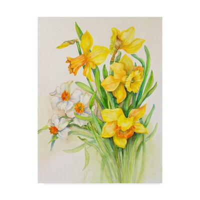 'Daffodils Springs Calling Card' Acrylic Painting Print on Wrapped Canvas ALI30592-C1419GG