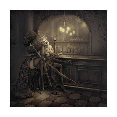 'Ida the Spider' Graphic Art Print on Wrapped Canvas ALI30825-C1414GG