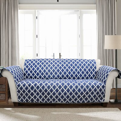 Wellow Ikat T-Cushion Sofa Slipcover Size: 75 H x 116 W x 0.01 D