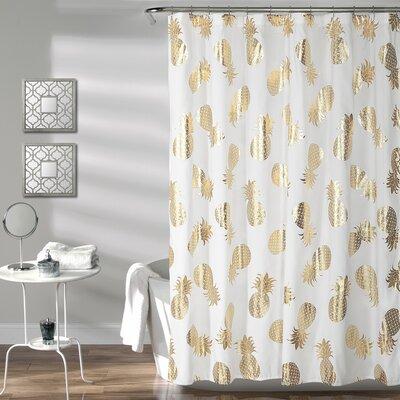 Heinen Pineapple Toss Shower Curtain
