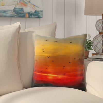 Broadbay Bird Flying Sunset Throw Pillow