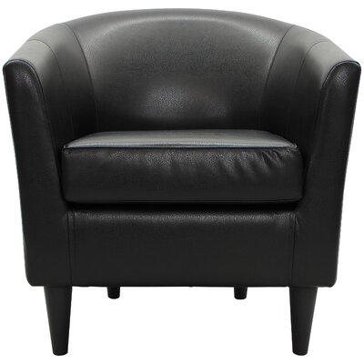 Czerwinski Club Chair Upholstery: Black