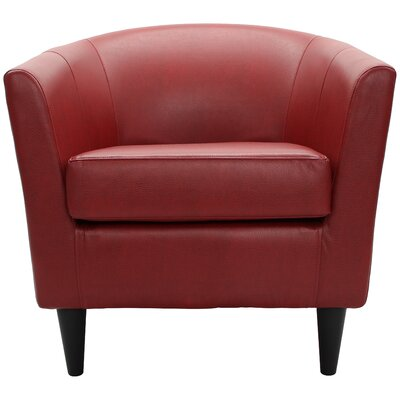 Czerwinski Club Chair Upholstery: Red