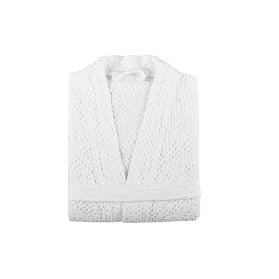 Savoy Bath Robe Size: Large, Color: White