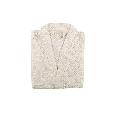 Savoy Bath Robe Color: Ivory, Size: Small