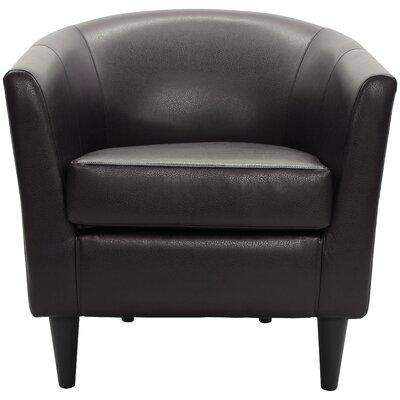 Czerwinski Club Chair Upholstery: Dark Brown