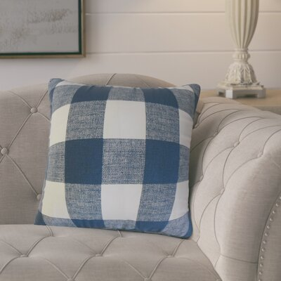 Eaddy Cotton Throw Pillow Size: 18 H x 18 W, Color: Blue