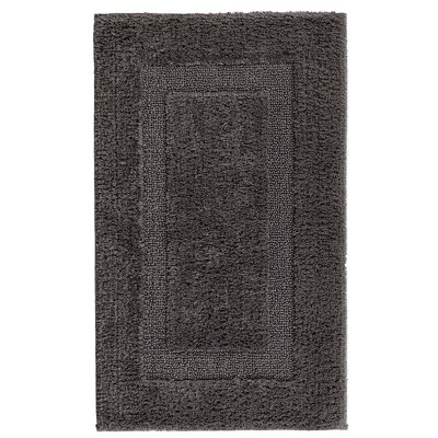 Hizer Classic Bath Rug Size: 24 W x 39 L, Color: Dark Anthracite