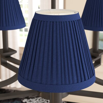 Pleat 6 Silk Empire Lamp Shade Color: Navy Blue