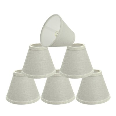 Hardback Clip-On 6 Linen Empire Candelabra Shade Color: Pearl Linen
