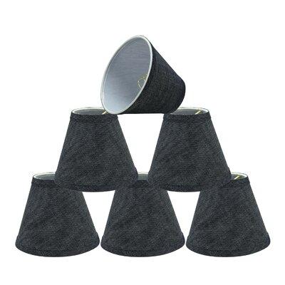 Hardback Clip-On 6 Linen Empire Candelabra Shade Color: Gray