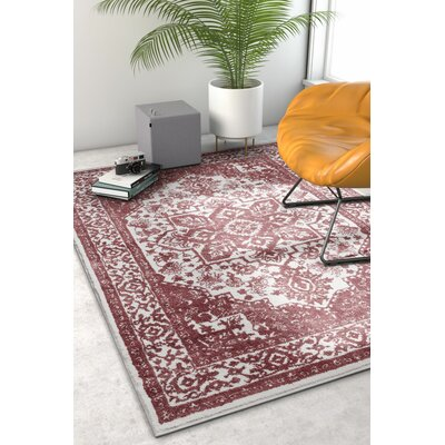 Hunsicker Dazzling Southwestern Medallion Transitional Soft Rose Area Rug Rug Size: Rectangle 710 x 910