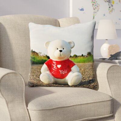 Hicks Teddy Bear Throw Pillow