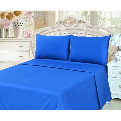 Madore 800 Thread Count 100% Cotton Sheet Set Size: Twin, Color: Royal Blue