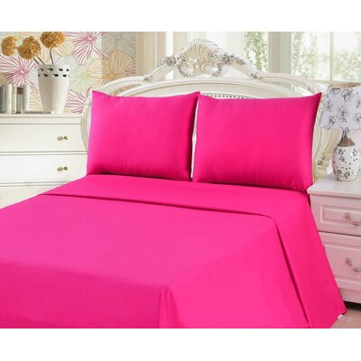 Madore 800 Thread Count 100% Cotton Sheet Set Size: King, Color: Hot Pink