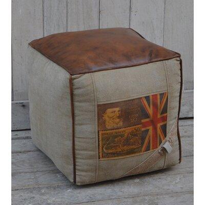 Greenbank Leather Pouf