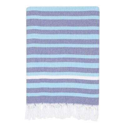 Elegant Stripe Pestemal Beach Towel Color: Blue/Purple