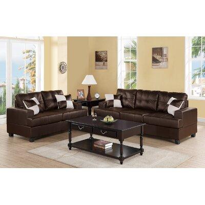 Marro 2 Piece Living Room Set Upholstery: Espresso