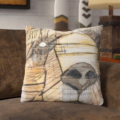 Pohlman Bear Graphic Art on The Wall Throw Pillow