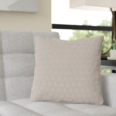 Rolen Throw Pillow Color: Neutral Stone, Size: 16 x 16, Fill Material: Down