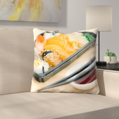 Bernardino Cooking Sushi Plate Throw Pillow