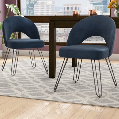 Malcom Side Chair Color: Navy