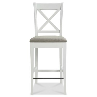 Dutil 26 Bar Stool Color: White