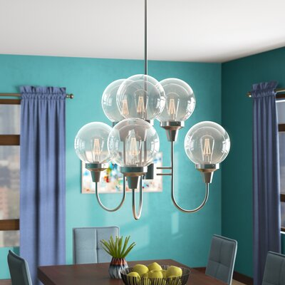 Hosley Indoor 6-Light Candle-Style Chandelier
