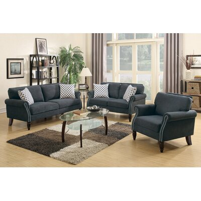 Izzo 2 Piece Living Room Set Upholstery: Slate