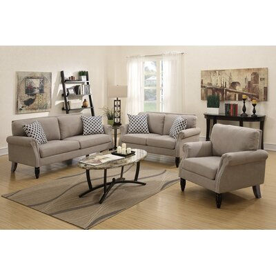 Izzo 2 Piece Living Room Set Upholstery: Sand
