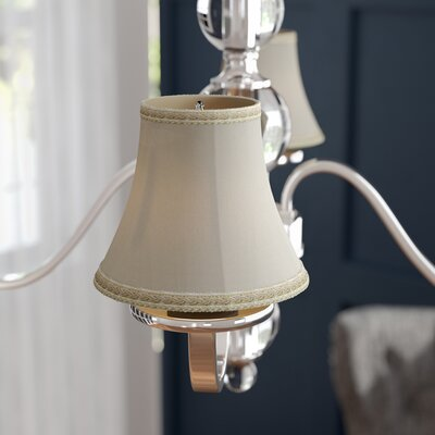 6 Silk Softback Bell Lamp Shade Color: Eggshell