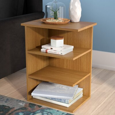 Fay Modern 3 Shelf End Table Color: Walnut