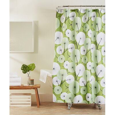 Cosgrove Shower Curtain Color: Green