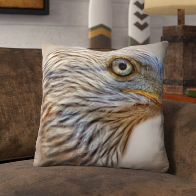 Poirier Bird Bald Eagle Throw Pillow