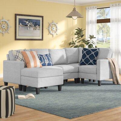 Longwood Modular Sectional Upholstery : Light Gray