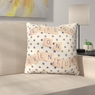 Wigginton Art and Craft Lets Go on an Adventure Throw Pillow