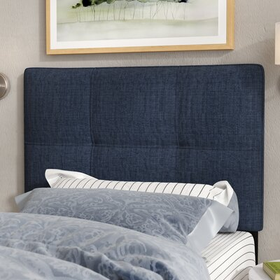 Francis Twin Upholstered Panel Headboard Upholstery: Navy