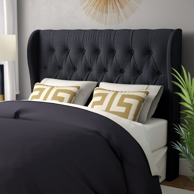 Federico Upholstered Wingback Headboard Size: Queen/ Full