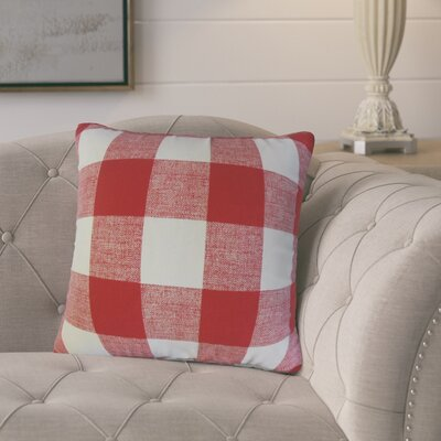 Eaddy Cotton Throw Pillow Size: 22 H x 22 W, Color: Red