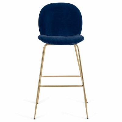 Amalfi 39 Bar Stool Upholstery: Indigo Blue