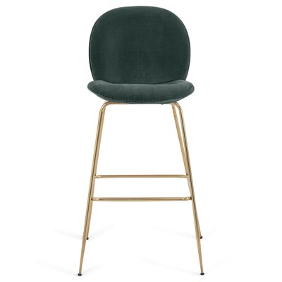 Amalfi 39 Bar Stool Upholstery: Hunter Green