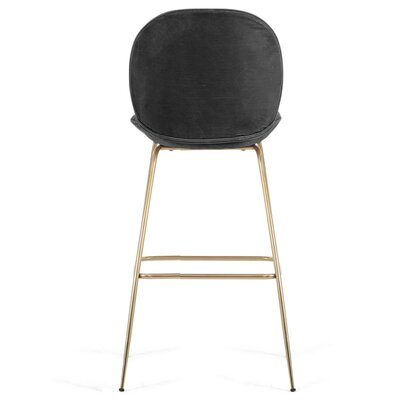 Amalfi 39 Bar Stool Upholstery: Dark Gray