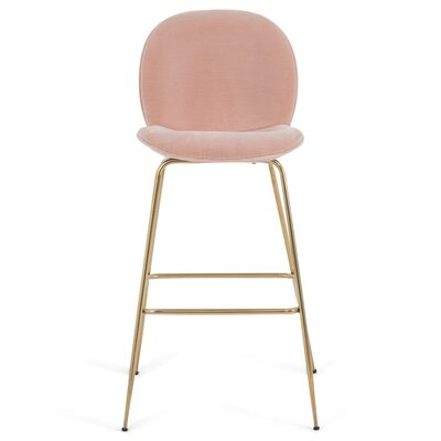 Amalfi 42 Bar Stool Upholstery: Blush Pink