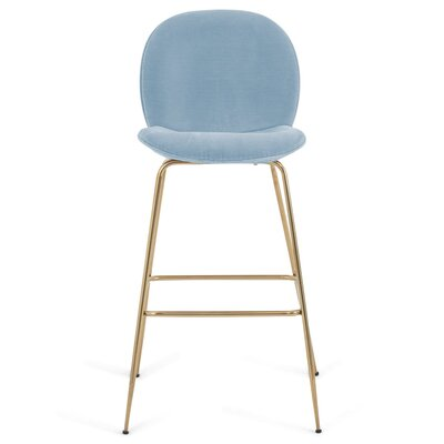Amalfi 39 Bar Stool Upholstery: Capri Blue