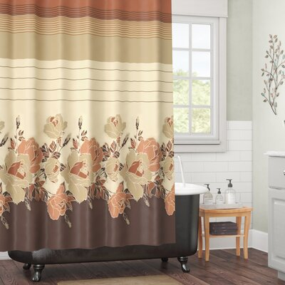 Glasford Shower Curtain Color: Rosanna Beige