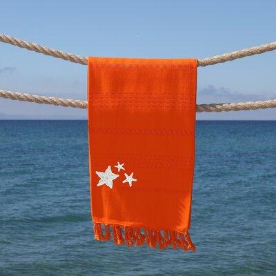 Sandspur Glittery Pestemal Beach Towel Color: Dark Orange