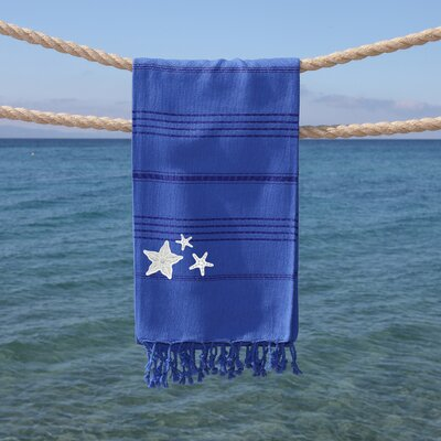 Sandspur Glittery Pestemal Beach Towel Color: Royal Blue