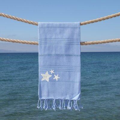 Sandspur Glittery Pestemal Beach Towel Color: Sky Blue