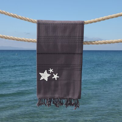 Sandspur Glittery Pestemal Beach Towel Color: Gray