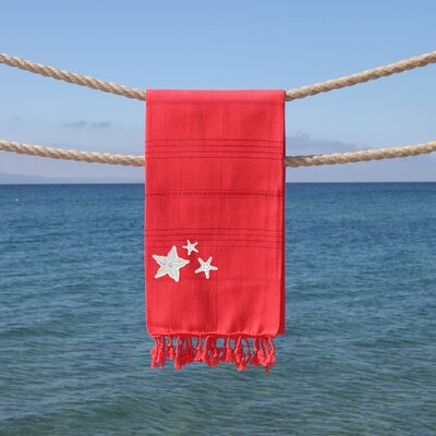 Sandspur Glittery Pestemal Beach Towel Color: Coral